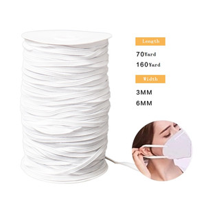 DHL Free Shipping 3mm 6mm DIY Elastic Band Cord Ear Hanging Sewing For Mask Rubber Band