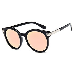 Wholesale sunglasses mercury resale online - Top retro classic multicolor round square sunglasses male female metal frame mercury reflective sunglasses men s brand sunglasses send box