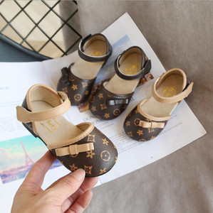Wholesale toddler girl patterns resale online - Children Shoes Girls Fashion Flats Kids Toddler Princess Shoes With Butterfly Knot Dress Wedding Party Girls Shoes Soft