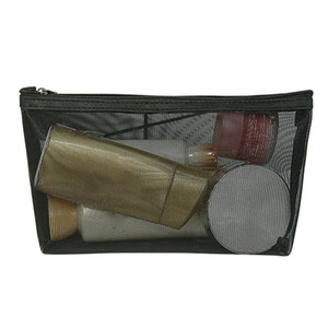 Wholesale Portable Mesh Cosmetic Wash Makeup Bag Travel Storage Women Zipper Toiletry Organizer Transparent Pouch