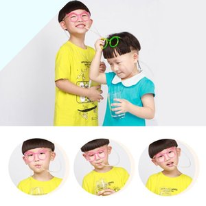 Wholesale Kids Funny Soft Glasses Straws Unique Flexible Drinking Tube Party Colorful Safety Cute Straws Plastic Reusable Juice Straws BH1265 TQQ