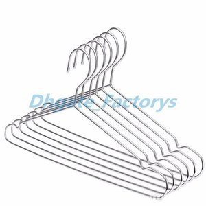 100pcs Stainless Steel Strong Metal Wire Hangers Coat Clothes Hangers 50cm Houseware Drying Clothes Organizer