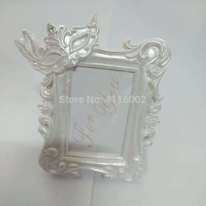 Wholesale 50PCS Mardi Gras Masked Theme Picture Place Card Frame Wedding Favors Table Setting Event Photo Mini Frame