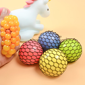 Wholesale Cute Anti Stress Face Reliever Grape Ball Autism Mood Squeeze Relief Healthy Toy Vent Toy Extruded Discoloration Creative Gifts VT0104