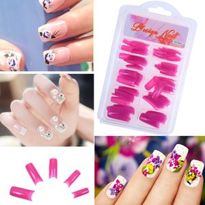 Wholesale 100pcs DIY Clear Acrylic Nail False Fake Art Fingernail Full Tips Box Set Salon Tool