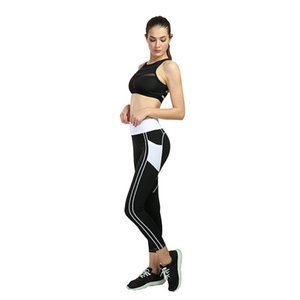 Wholesale strip outfits for sale - Group buy yoga pants Gym clothing outfit tracksuit slim strip legging high waist body mechanics sport elastic outdoor workout jogging fitness running
