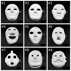 100pcs Papper DIY Party Mask Creative Painting Halloween Chirstmas Party Mask Children Women Men DIY Half Face Full Face Masks