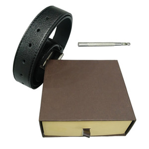 Belts Mens Belt Fashion Belts Men Leather Black Business Belts Women Big Gold Buckle Womens Classic Casual Ceinture with Orange Box 34-51