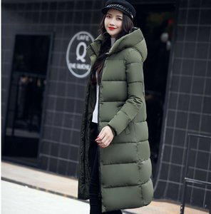 Wholesale 2018 Winter New Style Long Feather Down Cotton Dress Female Overcoat With Bread