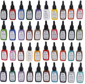 Wholesale tattoo color ink free resale online - Permanent makeup iron butterfly color tattoo ink kit colors C119 bloodline tattoo pigment set ML