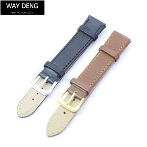 Wholesale Way Deng Women Men Vintage Soft Plain PU Leather Watch Band Watchbands Two piece Strap Accessories Many Sizes Y038