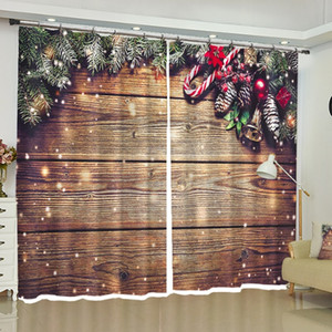 Wholesale Christmas Curtains Blackout Custom Window Drapes for Bedroom Living Room Kitchen Office Party Backdrop Fabric Home Decorations