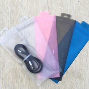 Wholesale 7x19 Clear Zipper Retail Plastic Packaging poly OPP bag Cable electronic accessories stylus pen package bag