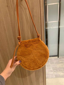 2020 fashion ladies shoulder bag fashion luxury style exquisite elegant handbag plush small bag size 20cm free shipping on Sale