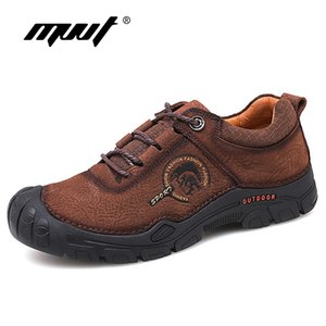 Wholesale 2019 Spring Men Casual Shoes Genuine Leather Men Shoes Lace Up Quality Nubuck Leather Outdoor Shoes Sapato Masculino MVVT