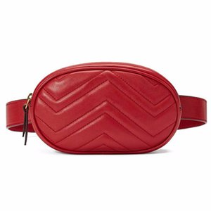 Wholesale 2019 New High Quality Waist Bag Women Waist Fanny Packs Belt Bag Leather Chest Handbag Rose Red Black Blue