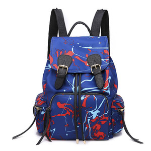 Wholesale Fashion Water Resistant Nylon Women Backpack Flower Printing Female School Rucksack Girls Daily College Laptop Bagpack