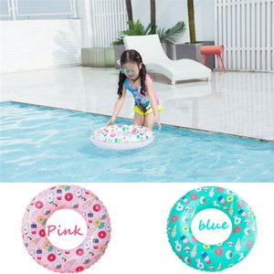 Wholesale Sweet Dessert Ice Gream Cute Pool Floats Children Kids Doughnut Pool Inflatable Life Buoy Swimming Circle Ring