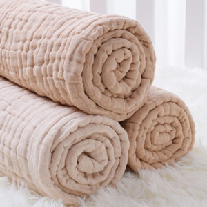 Wholesale Seartist Newborn Muslin Blanket Infant Cotton Layers Gauze Bath Towel Baby Swaddle Blankets Hold Wraps New