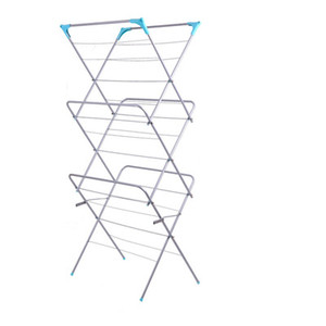 3-Tier Folding Concertina Clothes Airer Household Essentials Folding Clothes Drying Rack for Hanger Shelf Cloth Towel on Sale
