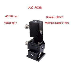 Wholesale XZ Axis Trimming Station Manual Displacement Platform Micrometer Sliding stage Steel ball guide PLWE