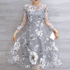 Wholesale Woman Clothes Summer Dress Summer Womens Hollow Out Dress Organza Floral Print Female Sexy Sundress Vestidos Festa Curto Designer Clothes