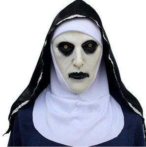 Roolina The Nun Valak Mask Deluxe Latex Scary Full Head Halloween Cosplay Costume Accessory