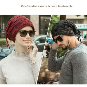 Wholesale New Trendy Mens Ladies Knitted Woolly Winter Oversized Slouch Beanie Hat Cap Unisex one pieces