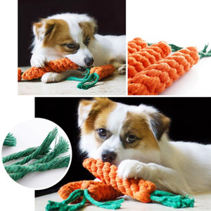 Wholesale Hand woven Carrot Best selling Pet Toys Cotton String Chew For Small Medium Pets High Quality And Cheap Chewing Cotton Rope Interactive Toys