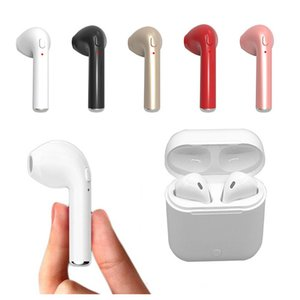 Wholesale I7S I7 TWS Wireless Bluetooth Headphones noise cancelling Earbuds Earphones Charging Box Twins Mini Stereo Earbuds sale for iPhone Xs A22702