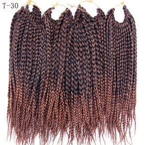 Wholesale crochet braids weave hair resale online - Crochet Box Braids Heat Resistant Synthetic Braiding Hair Extensions Ombre Purple x Box Braided Hair Weave