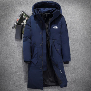 Wholesale New The North Winter mens down jackets Parka long keep Warm Goose Down Coats Soft shell Hats thick outdoor doudoune face male bomber jacket