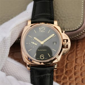 Wholesale VS palm orologio di lusso movement watches mm refined steel case red gold designer watches cowhare strap