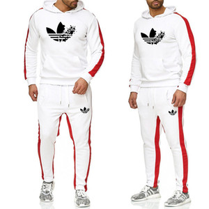 Wholesale Men Clothing Set Sportswear Autumn New Hoodies Sweatshirts Sporting Sets Men s Tracksuits Two Piece Hoodies Pants Sets