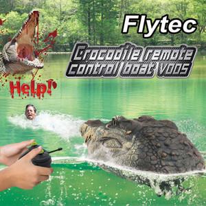 EMT QT2 2.4G Remote Control Crocodile Head, Electric Funny& Scary Toy, Swim in Water, Joke& Trickery, Boy Christmas Kid Birthday Gift, 2-1