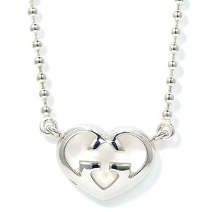 Wholesale 2019 Trendy Women Luxury Jewelry Cute Heart Lock Necklace Sterling Silver Choker gg Necklace Pendant On Neck bracelet brand