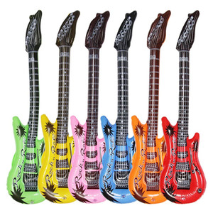 Wholesale Inflatable Guitar Waterproof Assorted Colors Electric Guitars Water Toy Rock Inflatable Guitars for Parties Inflatable Pool Toy for Kids