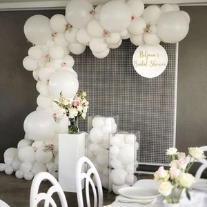 50pcs lot 18inch White Candy Macaron Latex balloons Helium Ballons For Party Wedding Birthday Home Decration