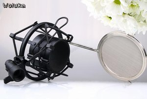 Wholesale Metal microphone stand Hand held wheat clip wired microphone stand proof frame accessories CD500 T15