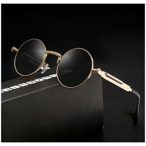 Wholesale Vidano Optical vintage steampunk sunglasses for men and women retro round designer glasses gothic punk shades oculos de sol