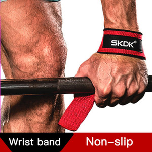 3 Colors Adjustable Wrist Support Brace Padded Weight Lifting Straps Silicone Non-Slip Training Gym Gloves Hand Wrist Wraps Unisex M422F on Sale