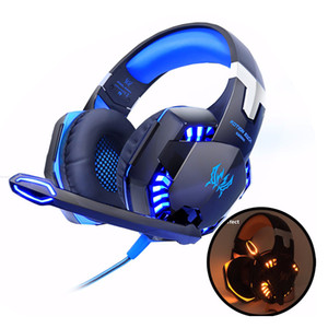 Wholesale game headsets for sale - Group buy EACH G2000 Gaming Headphones Computer Stereo Over Ear Deep Bass Game Earphone Headset Headband Earphone with Mic LED Light for PC LOL Gamer