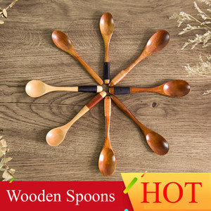 Wholesale High Quality Wooden Spoons Tea coffee Milk Honey Tableware Kitchen Accessories Cooking Sugar Salt Small Spoons Styles
