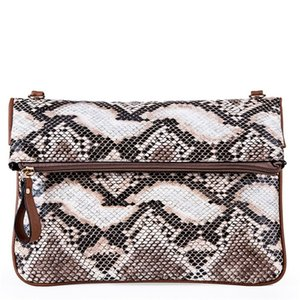 Wholesale Casual Serpentine Crossbody Bag Women Daily Flip Bags Soft PU Leather Shoulder Bags Phone Pouch Evening Banquet Purse New