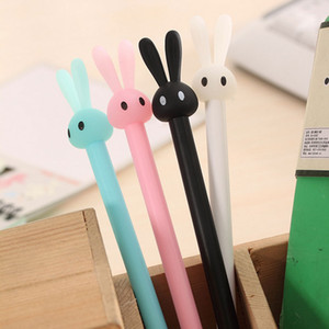 Wholesale Cartoon rabbit animal gel pen children Student Writing Pen Office Eexamination Limited Office Material School Supplies Free E PACK