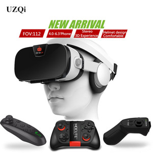 Wholesale UZQi Universal D VR Glasses Virtual Reality Headset for Smart Phone Googles Goggles d Glasses Helmet Cardboard Virtual VR Box
