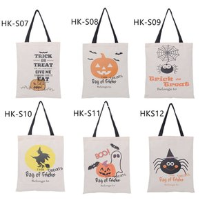 Wholesale halloween canvas bags for sale - Group buy Factory Halloween Tote Gift Santa Sack Drawstring Bag Styles Halloween Tote Gift Canvas Candy Bag