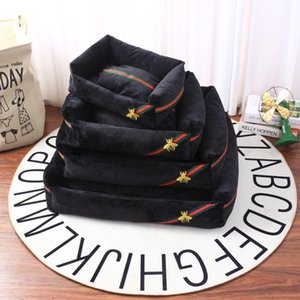 Bee Embroidery Stripe Doghouse Can Unpick And Wash Fashion Comfort Pet Waterloo Pad Autumn Winter Popular Logo Pet House Cushion