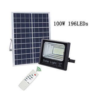 Wholesale Solar Street Lights Solar Powered Flood Lights W W IP67 Wall lamp with Remote Control Security Lighting for Yard Garden Gutter Garage