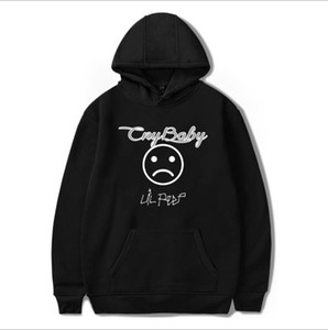 Wholesale Mens Hoodies High Street Style Hip Hop CRY BABY LIL PEEP Printed Loose Velvet Hooded Mens and Womens Sweater Coat Asian Size S XL